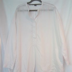 """Vince Current Cotton Spring Tunic M Pockets 50"""""""